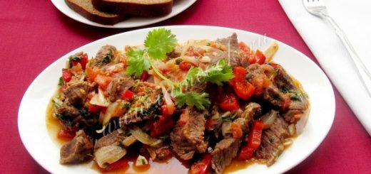 Тушеное мясо по-болонски с овощами