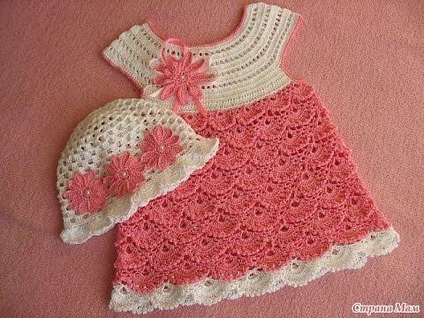 Вяжем детское платьице