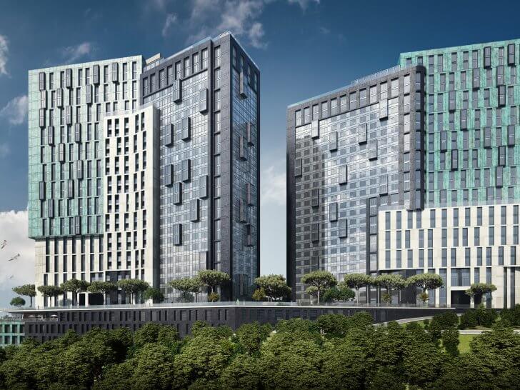 ЖК «Гринвилль Парк» в Киеве предлагает покупателям более 650 квартир бизнес-класса