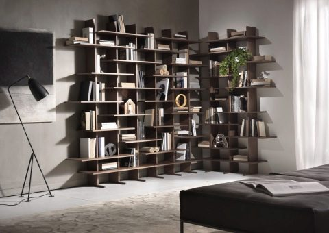 Книжные шкафы под разные стили интерьера