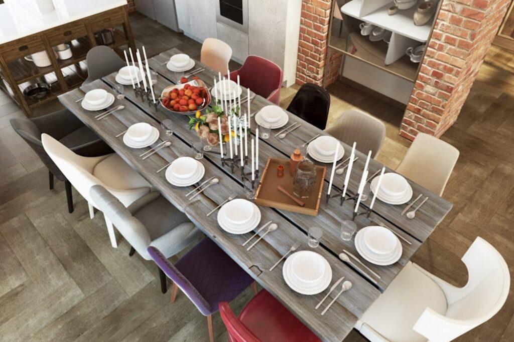 Большой обеденный стол: место, где собирается вся семья